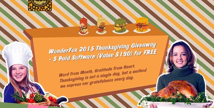 7 Programme Kostenlos (Windows) - WonderFox 2015 Thanksgiving