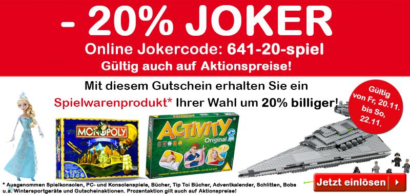 [interspar.at] -20% auf Spielwarenartikel, kombinierbar mit 5,-€ Newsletter Gutschein u. versandkostenfrei!