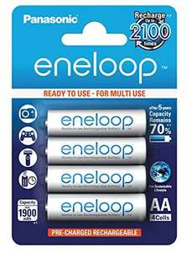 4x Eneloop AA (1.900 mAh) um 8,90 € - bis zu 31% sparen