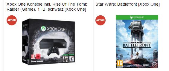 [Libro.at] Xbox One 1TB Tomb Raider Bundle + Star Wars Battlefront um 344€!!