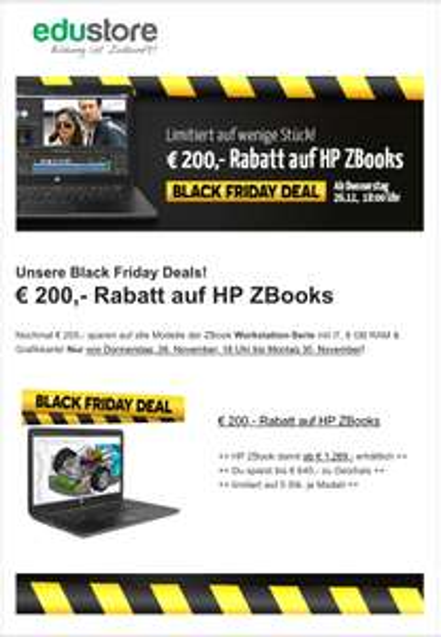 Edustore: 200€ Rabatt auf HP ZBooks