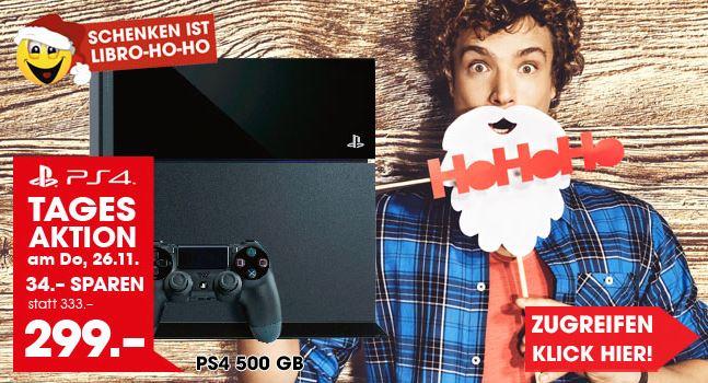 Libro Tagesaktion: PS4 500GB für effektiv 294,-