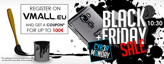 Cyber Monday bei Vmall.eu - Honor Smartphone bis 100€ billiger