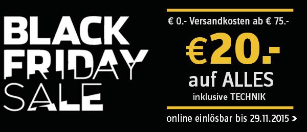 Universal: 20€ Rabatt ab einem Bestellwert von 100€- nur bis zum 29. November