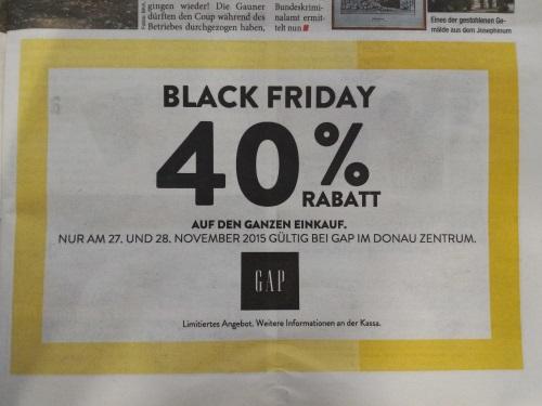 [GAP] -40% auf den gesamten Einkauf (lokal Donauzentrum)