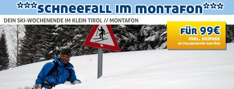 Skiwochenende im Montafon für 99€