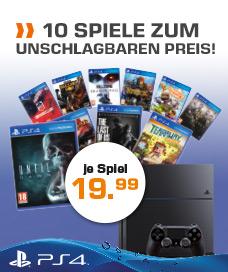 Saturn: 10 PS4 Spiele um je €19,99 Versandkostenfrei!