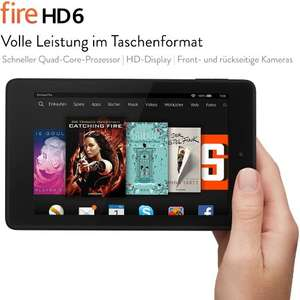 Amazon Cyber Monday Woche -20,00 € aut Fire HD 6 Tablet 8GB
