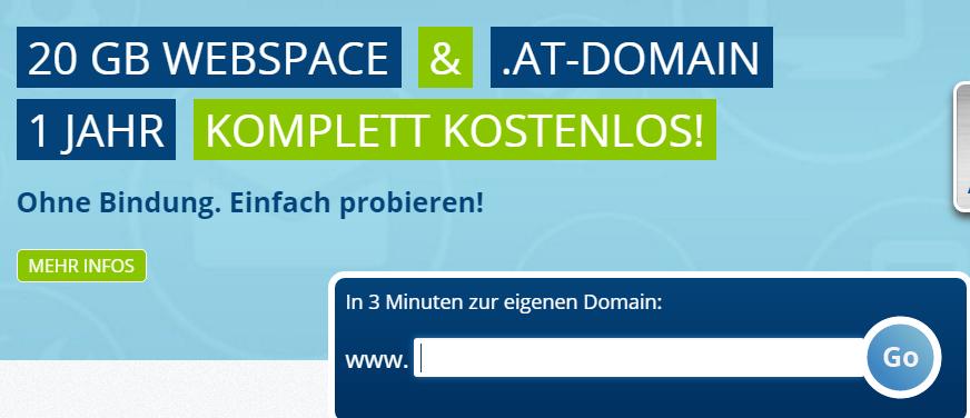 Gratis .AT / .DE / .WORK Domain + Gratis Webhosting für ein Jahr bei Easyname