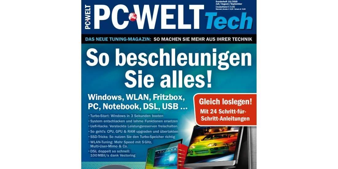 """Sie können sich das PC-WELT-Sonderheft """"So beschleunigen Sie alles"""" jetzt kostenlos herunterladen."""