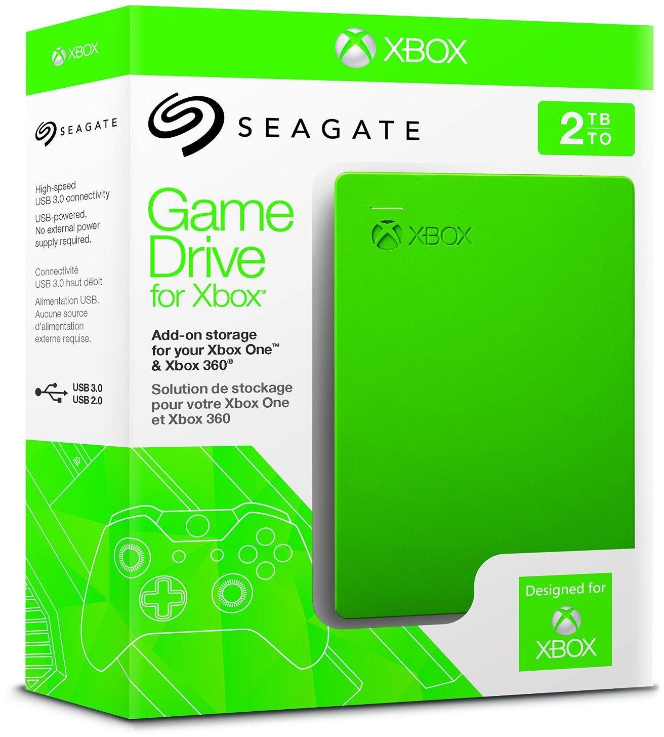 Amazon Seagate Game Drive für Xbox 2TB grün, USB 3.0 + Xbox Live - 10 Euro Guthabenkarte gratis dabei