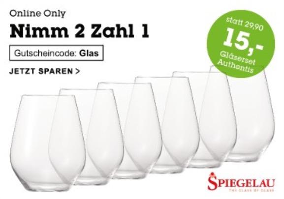 Mömax: Spiegelau Gläser - 1+1 Gratis - bis zu 50% sparen