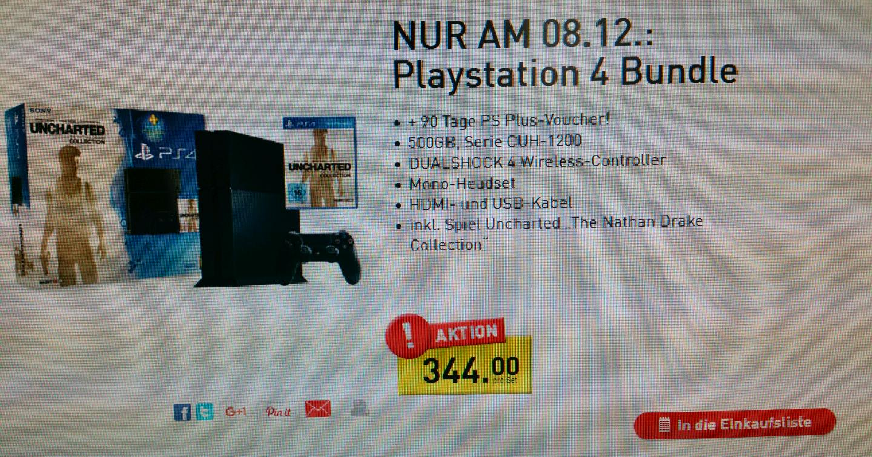 Online wieder Verfügbar ......Penny...... PS 4 Bundle 500 GB Modell CUH-1200