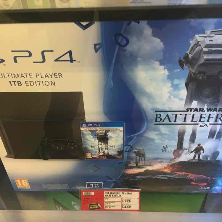 PS4 1TB mit Star Wars Battlefront um 334,80