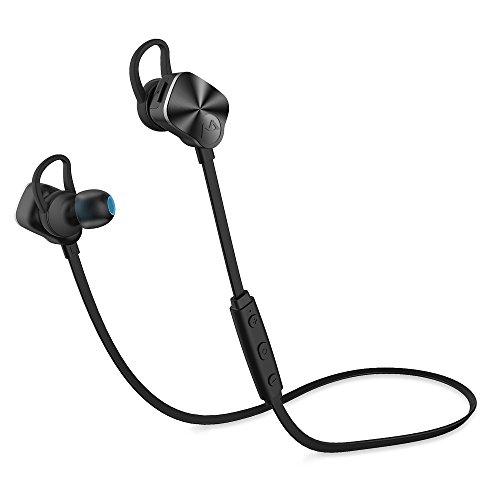 Bluetooth 4.1 Wireless Stereo Kopfhörer Sport & Freizeit Earbuds Ohrhörer Freisprech Headset Headphone, CVC 6.0 für iOS & Android Smartphones (amazon)