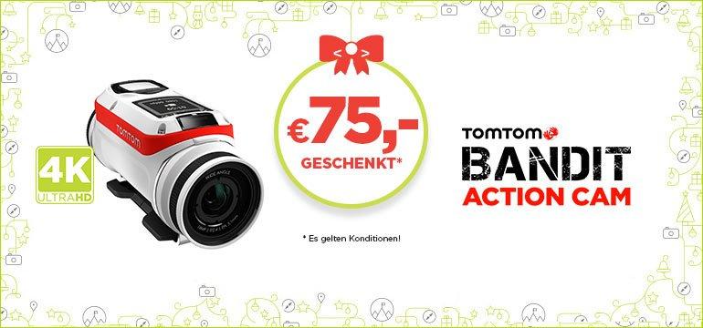 TomTom Bandit-Aktion: 75 EUR Cashback beim Kauf einer TomTom Bandit oder eines TomTom Bandit Premium Pack  (rund 20% Rabatt)