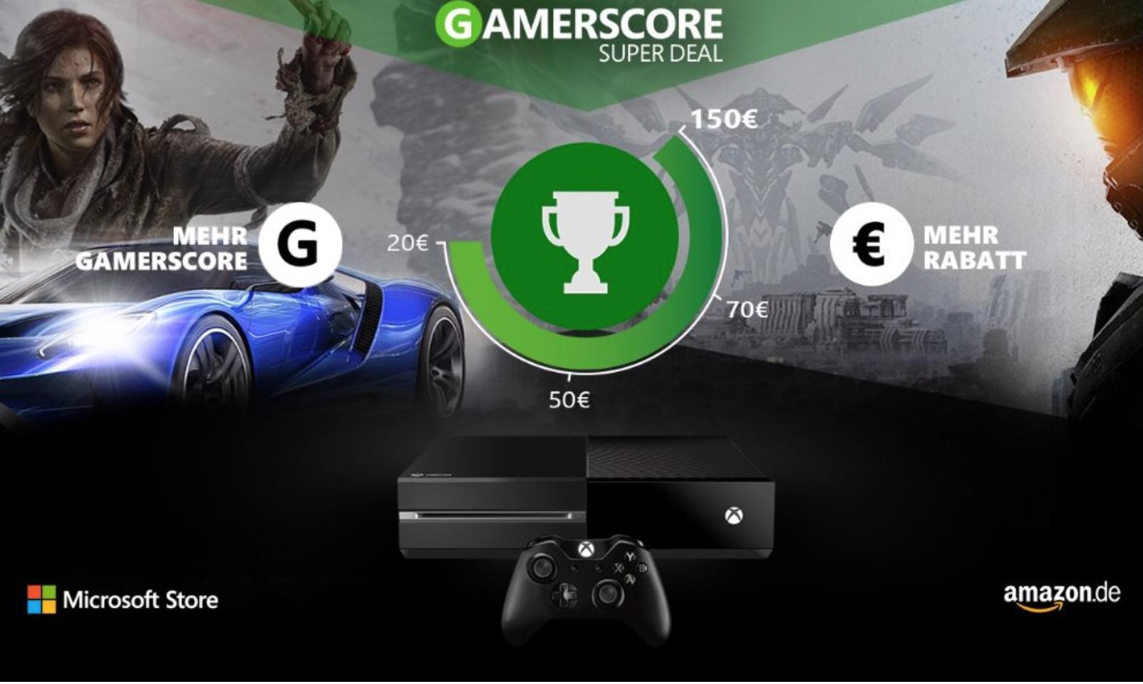 Beim Kauf einer Xbox One auf Amazon.de bis zu 150 Euro sparen (edit: nur für Deutsche XBOXLIVE-User)