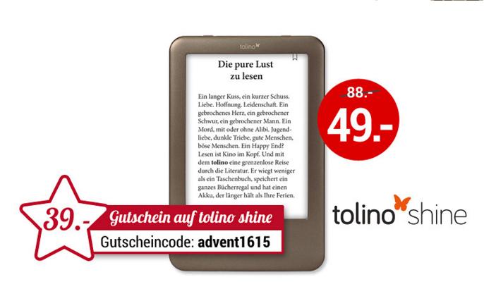 [Weltbild.de] Tolino Shine E-Reader zum Top-Preis nur 54€ (Logoix)