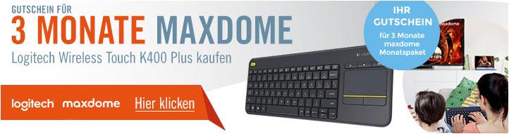 Logitech Tastatur k400 + 3 Monate Maxdome GRATIS @ Cyberport