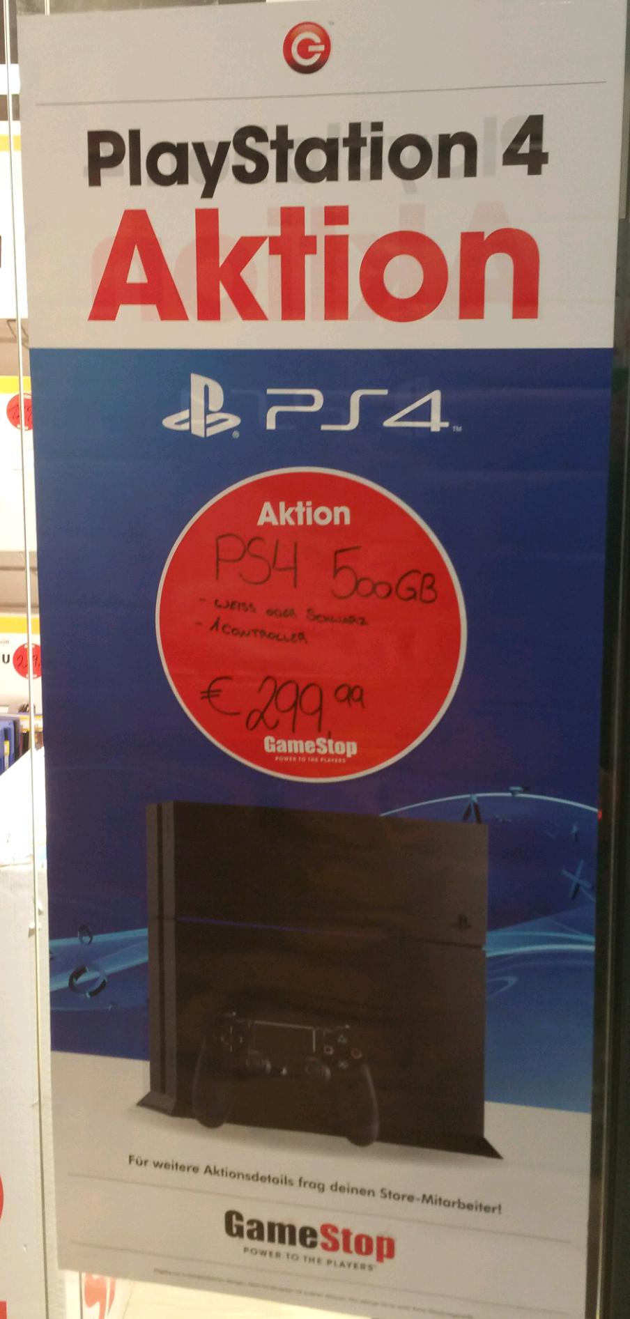 PS4 GameStop Offline Angebot 299.99,-