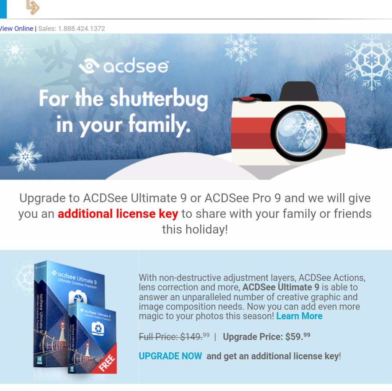 ACDSee Ultimate -  beim Upgrade 50% sparen