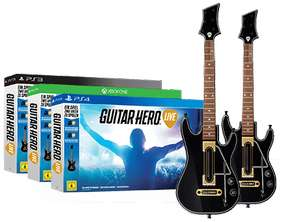 GameStop: Guitar Hero Live - 2 Gitarren-Bundle ab 29,99€