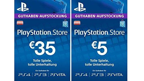 Amazon: PlayStation Store Guthaben-Aufstockung 35 EUR + 5 EUR für 35€