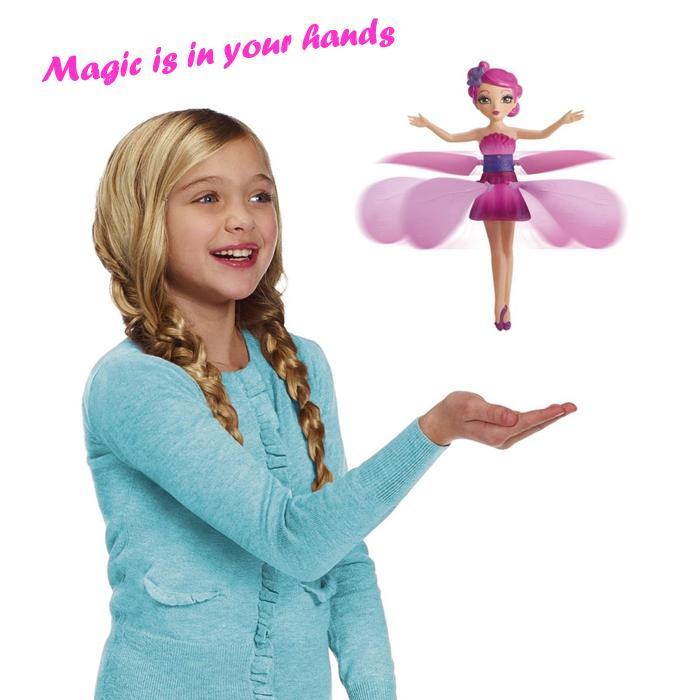 €19.13 , Spielzeug mit Musik für Kinder  HY - 988A Magie Hover Erkennung Schöne fliegende Fee Puppe