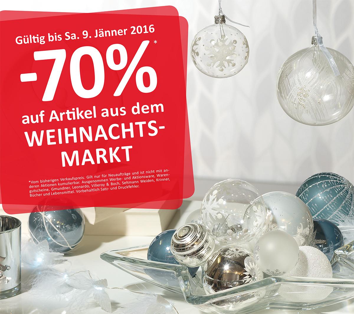 [kika / Leiner] -70% auf Artikel aus dem Weihnachtsmarkt