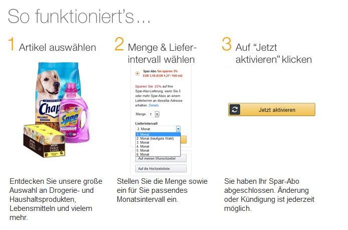 Amazon: 10€ Rabatt auf ein Spar-Abo - ohne Mindestbestellwert!