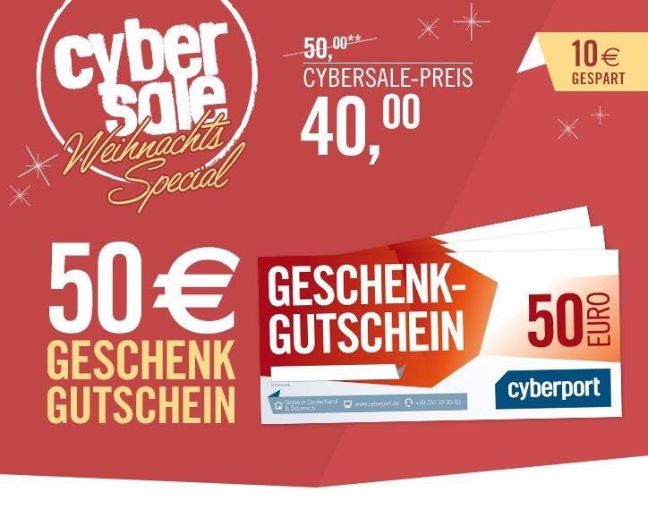 50€ Gutschein für 40€ bei Cyberport De