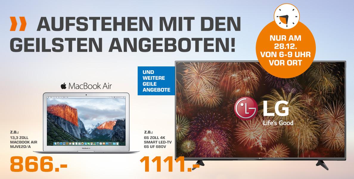 "LG 65"" 4K Smart TV @ Saturn 6-9 Uhr Shopping"