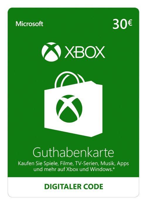 Xbox Live Card 30 Euro Guthaben um 24,99 €