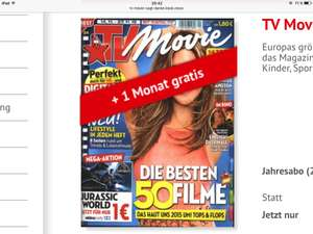 TV Movie sagt Danke!! 12 Monate + 1 Monat gratis für nur 2,20€