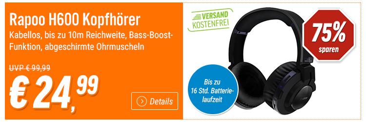[Notebooksbilliger] Deals der Woche - z.B. bei den Rapoo H600 kabellosen Kopfhörern 57% sparen