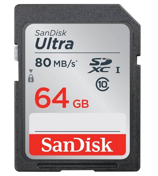 SanDisk Ultra SDXC (64 GB, 80MB/s) um 16,90 € - 33% sparen