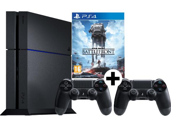 [mediamarkt.at] PS4 + Star Wars Battlefront + 2.Controller für 399€