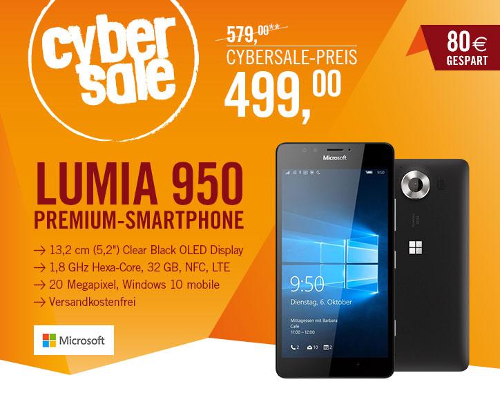 Lumia 950 - CyberSale 499€ + 5€ LogoiX