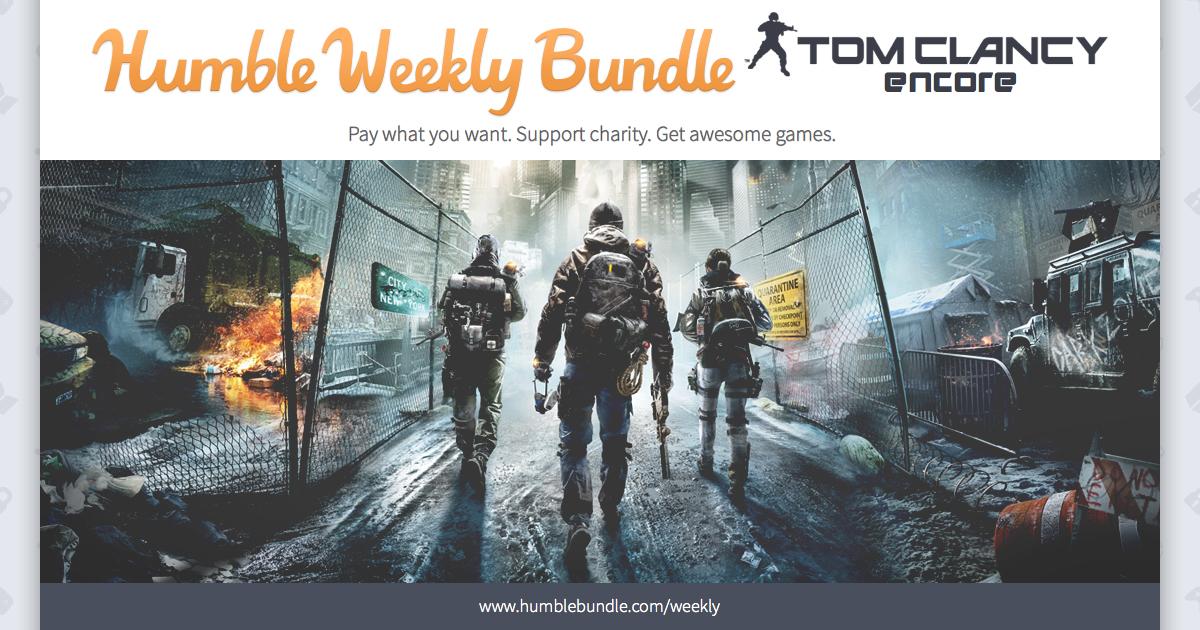 Humble Weekly Bundle: Tom Clancy Encore - bis zu 12 Spiele ab 0,92€