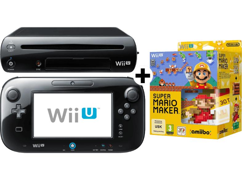 [Saturn] Tagesdeal: NINTENDO UE Wii U Limited Edition Super Mario Maker Premium Pack + Gratis SET Amiibo Karten um 266€
