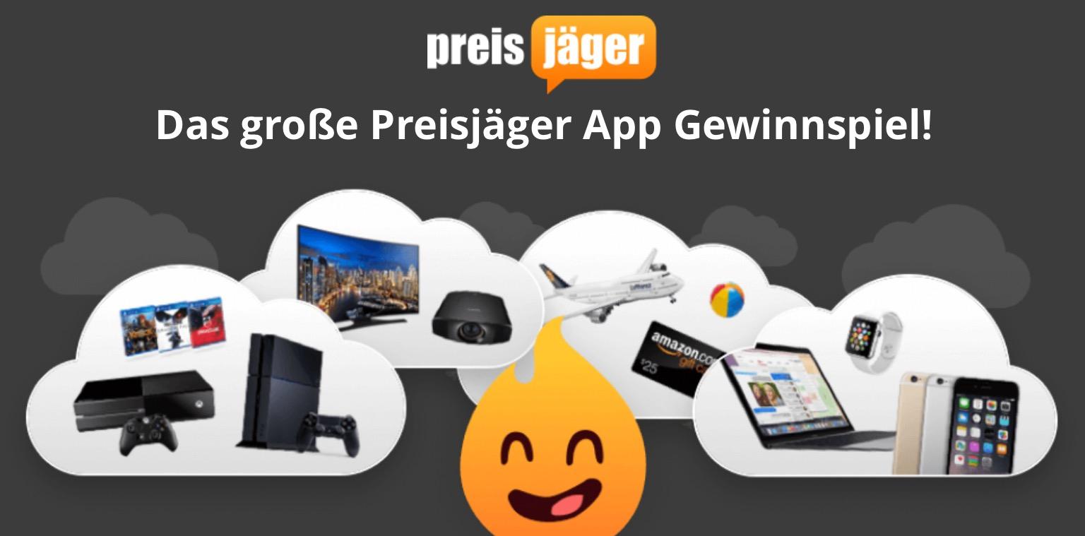 (HOT) Das große Preisjäger App-Gewinnspiel - mit Preisen bis zu 2500 €