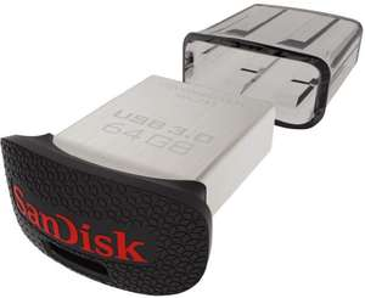 """SanDisk """"Ultra Fit"""" USB 3.0 Stick (64 GB) um 17 € - bis zu 27% sparen"""