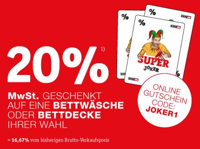 XXXLutz.at - 20 % MwSt. Super Joker Online Gutscheincodes
