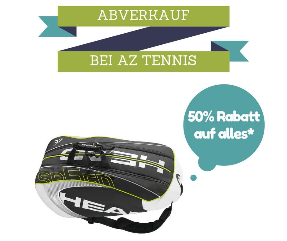 """-50% auf fast """"alles"""" bei AZ Tennis (online/shop)"""