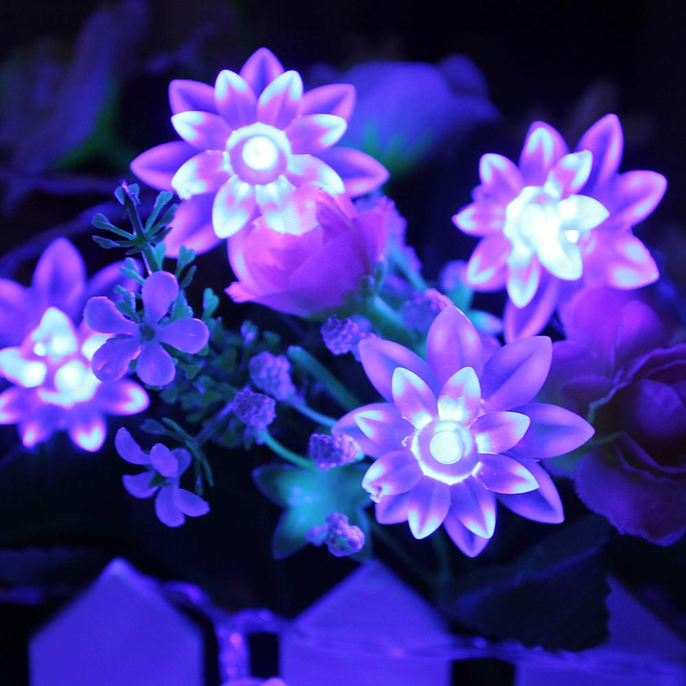 InnooTech LED 40er Lichterkette Lotosblüte Innenbeleuchtung 4 Meter Blau