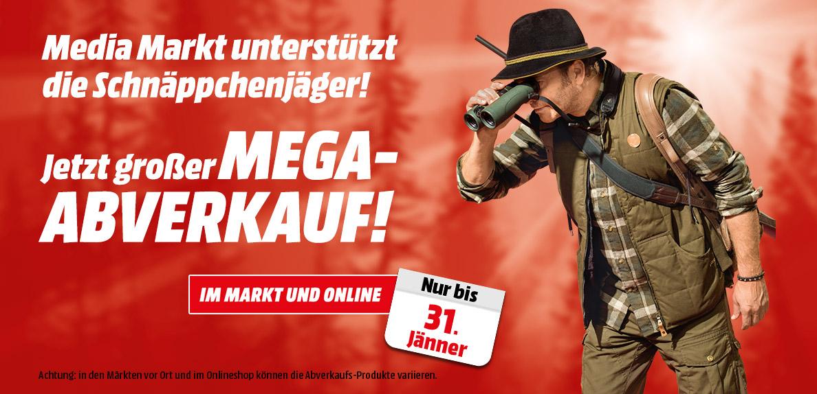 """Media Markt: """"Mega"""" Abverkauf in div. Märkten & im Online-Shop - ab dem 18. Jänner"""