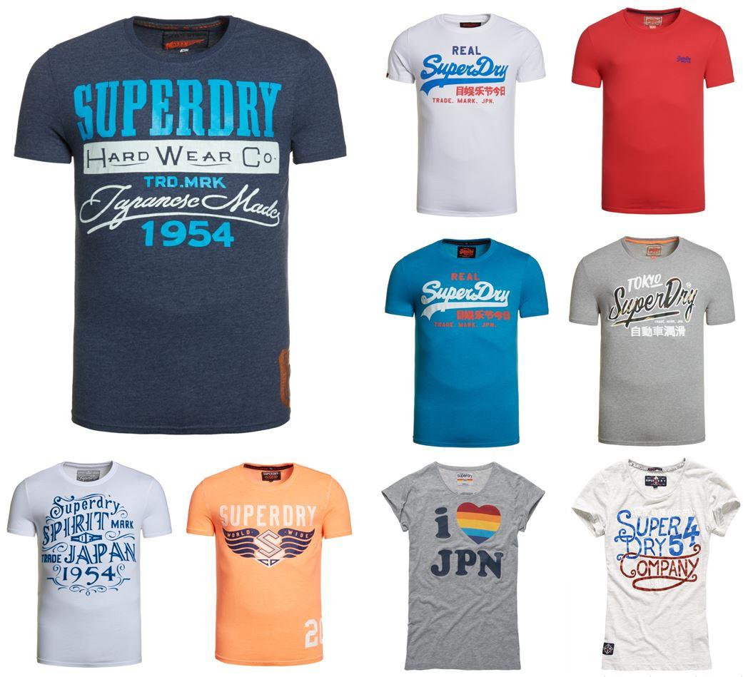 [Superdry@ebay] Superdry T-Shirts (Herren&Damen) für 13,95€ inkl. Versand