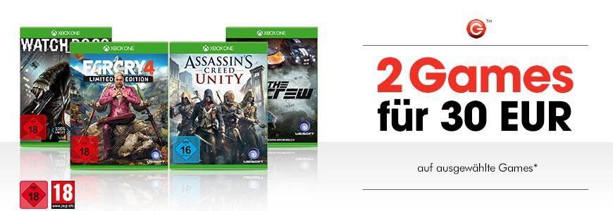 [Gamestop.at] XBOX ONE 2 Games für 30€