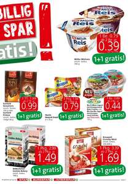 [Spar, Eurospar, Interspar] 1+1 gratis Aktionen bis 3.2.2016