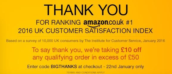 [Amazon.co.uk]10 Pfund Rabatt ab 50 Pfund Mindestbestellwert
